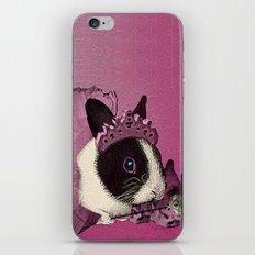 Pink Bunny Princess Print iPhone & iPod Skin