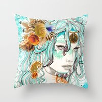 Mermaid Hair Throw Pillow