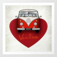 Van Love Art Print
