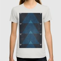 Greece Arrow Hues Womens Fitted Tee Silver SMALL