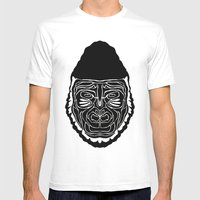 Gorilla Mens Fitted Tee White SMALL