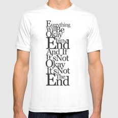 Okay Mens Fitted Tee White SMALL