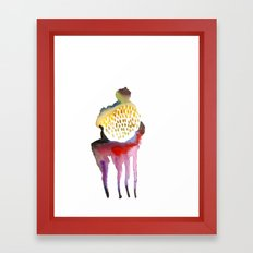 Why horses don't sweat, but I do? Framed Art Print