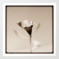 Minimal heart Art Print