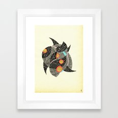 - summer spaceships of love - Framed Art Print
