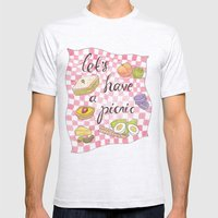 Let's Have A Picnic Mens Fitted Tee Ash Grey SMALL