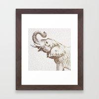 The Wisest Elephant Framed Art Print
