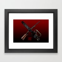 Come Get Some (bloody) Framed Art Print
