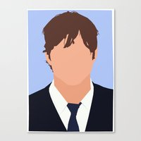 Ashton Kutcher Digital Portrait Canvas Print