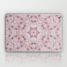 Vintage Raspberry Pink and Paris Gray Earth Mandala with Hearts Laptop & iPad Skin