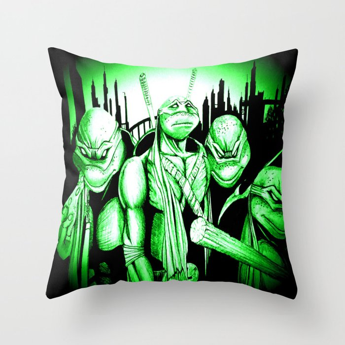 Ninja Turtle Decorative Pillow : Ninja Turtles Throw Pillow by Shannon s Art Space Society6