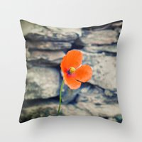 Alone against the wind Throw Pillow