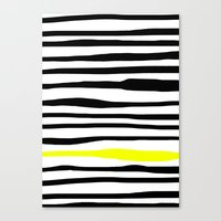 Neon zebra stripes Canvas Print
