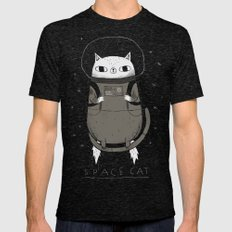 space cat Mens Fitted Tee Tri-Black SMALL