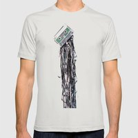 leakage Mens Fitted Tee Silver SMALL