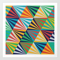 Color Triangles - Basic Art Print
