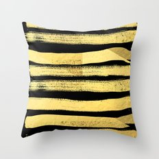 Sochie - black gold minimal black and white modern retro bold dramatic cell phone iphone case trendy Throw Pillow