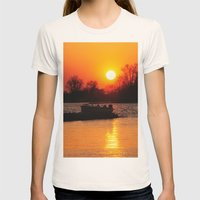 Silhouettes And Fire Womens Fitted Tee Natural SMALL