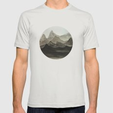 Mountains Mens Fitted Tee Silver SMALL