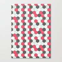 Hexagons Pattern Canvas Print