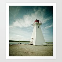 lighthouse. Art Print