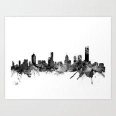 Melbourne Skyline Art Print