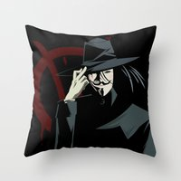 V for Vendetta (e1) Throw Pillow