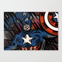 Captaino Americano Canvas Print