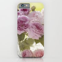 iPhone Cases featuring Wonderful English Roses in a crystal bowl by UtArt