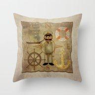 Captain, Ship, Rudder, A… Throw Pillow