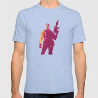Winter Soldier Mens Fitted Tee Tri-Blue SMALL