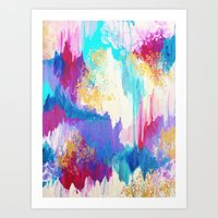 SWEET DREAMS - Lovely Bright Soft Pastel Modern Abstract Fun Nursery Ombre Design Acrylic Painting Art Print