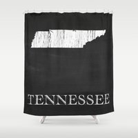 Tennessee State Map Chal… Shower Curtain