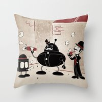 Smoke Break At The Clink… Throw Pillow