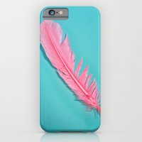 iPhone & iPod Case featuring PINK FEATHER by Leigh Eldridge