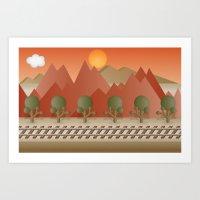 Mountain Railway Art Print