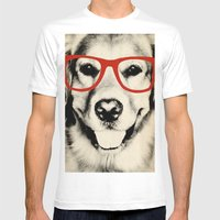 NERDY DOG Mens Fitted Tee White SMALL