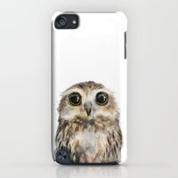 iPod Touch Cases featuring Little Owl by Amy Hamilton