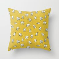Throw Pillow featuring Indian Baby Elephants by Estelle F