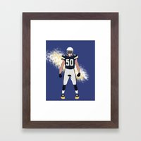 Bolt Up - Manti Te'o Framed Art Print