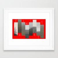ASSIMILATE  Framed Art Print