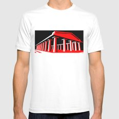 Parthenon White Mens Fitted Tee SMALL