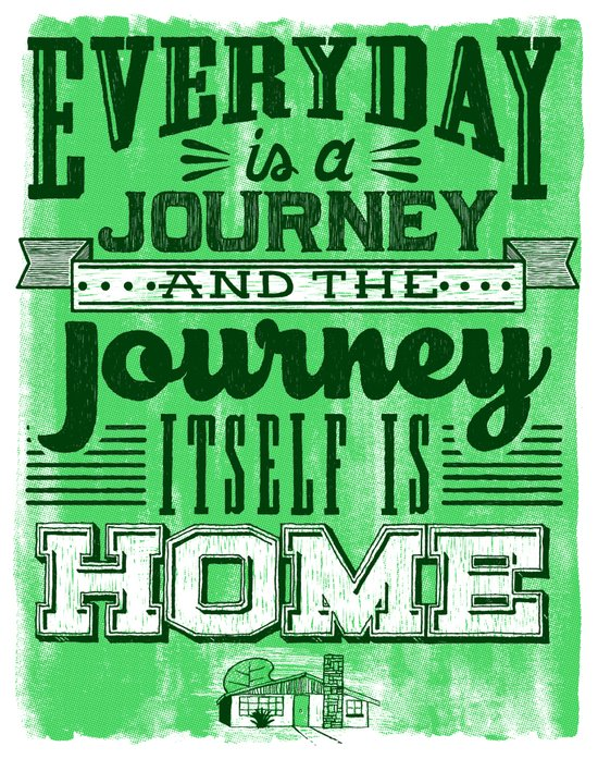 Everyday is a Journey Art Print