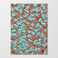 Hand Drawn and Digital Pattern Print Canvas Print