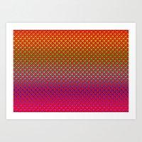 Regenbogenherzen - Rainb… Art Print