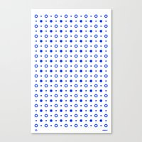 Dots / White Canvas Print