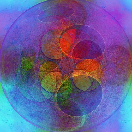 Rainbow Bubbles Art Print