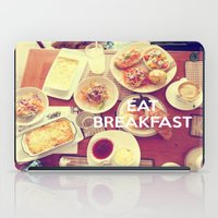 Eat Breakfast iPad Case