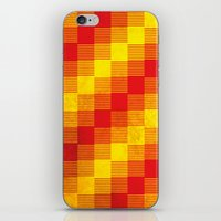 Rusty yellow and red motive iPhone & iPod Skin