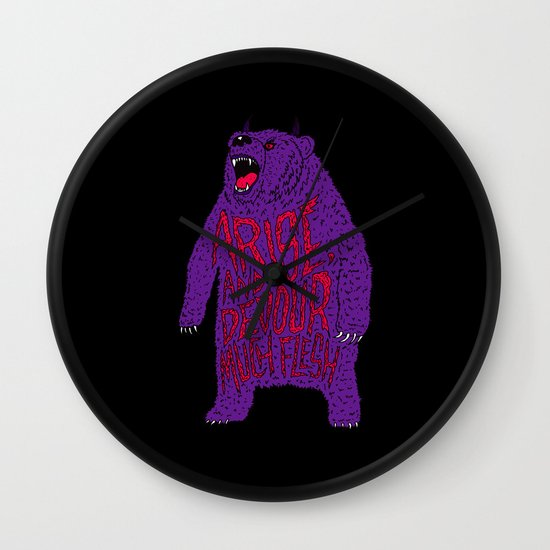 Arise and Devour Much Flesh Wall Clock